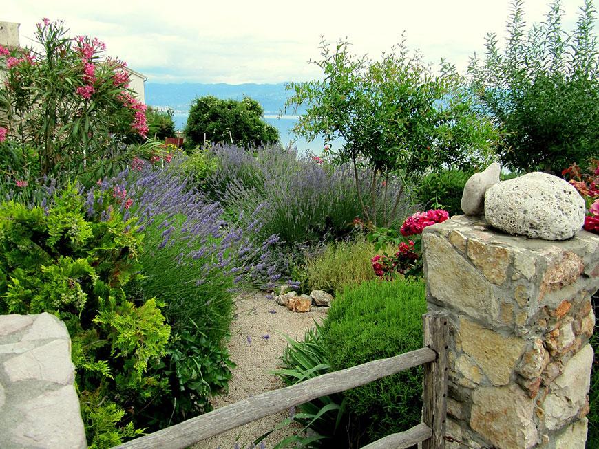 Caracteríticas del jardín mediterráneo
